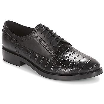 Cipők Női Oxford cipők Geox DONNA BROGUE Fekete