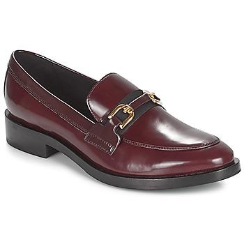 Cipők Női Mokkaszínek Geox DONNA BROGUE Bordó / Fekete