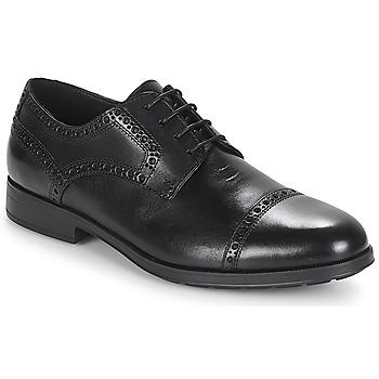 Cipők Férfi Oxford cipők Geox U HILSTONE 2FIT Fekete