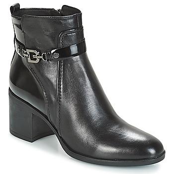 Cipők Női Bokacsizmák Geox D GLYNNA Fekete