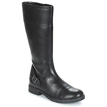 Cipők Lány Városi csizmák Geox JR SOFIA Fekete
