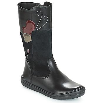 Cipők Lány Városi csizmák Geox J HADRIEL Fekete