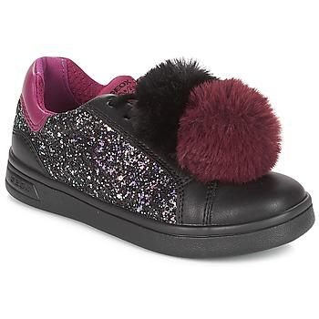 Cipők Lány Rövid szárú edzőcipők Geox J DJROCK GIRL Fekete  / Lila