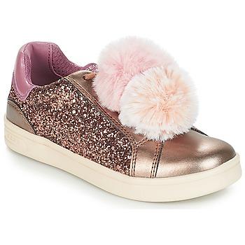 Cipők Lány Rövid szárú edzőcipők Geox J DJROCK GIRL Bézs / Rózsaszín