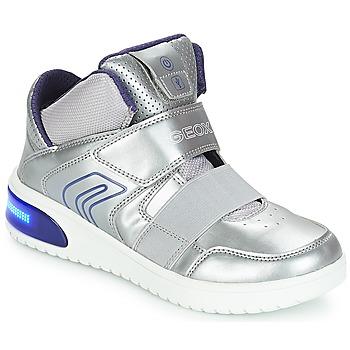 Cipők Lány Magas szárú edzőcipők Geox J XLED GIRL Ezüst