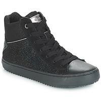 Cipők Lány Magas szárú edzőcipők Geox J KALISPERA GIRL Fekete