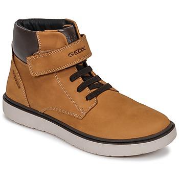 Cipők Fiú Magas szárú edzőcipők Geox J RIDDOCK BOY WPF Citromsárga