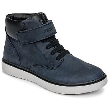 Cipők Fiú Magas szárú edzőcipők Geox J RIDDOCK BOY WPF Tengerész