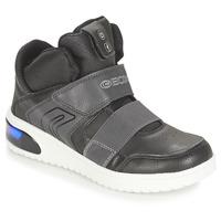 Cipők Fiú Magas szárú edzőcipők Geox J XLED BOY Fekete
