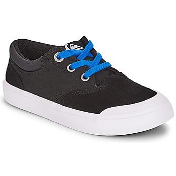 Cipők Fiú Rövid szárú edzőcipők Quiksilver VERANT YOUTH Fekete