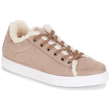 Cipők Női Rövid szárú edzőcipők André AWASSI Bézs
