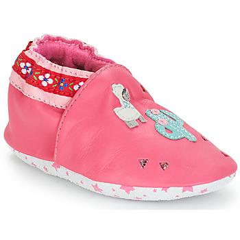 Cipők Lány Baba mamuszok André PERUVIENNE Rózsaszín