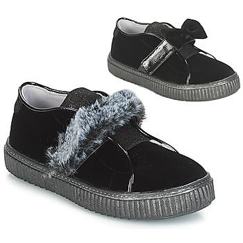 Cipők Lány Belebújós cipők André MAMMOUTH Fekete
