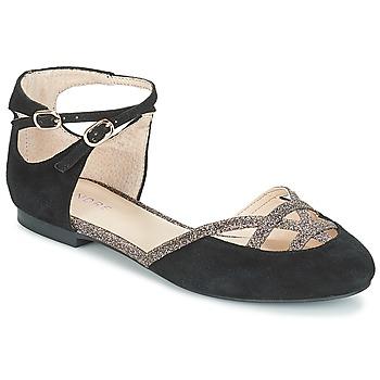 Cipők Női Balerina cipők  André POUPETTE Fekete