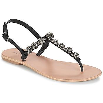 Cipők Női Lábujjközös papucsok André LAHORI Fekete