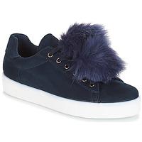 Cipők Női Rövid szárú edzőcipők André POMPON Kék