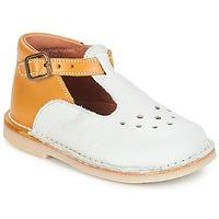 Cipők Lány Balerina cipők / babák André FALAISE Ekrü