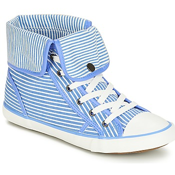 Cipők Női Magas szárú edzőcipők André GIROFLE Fehér / Kék