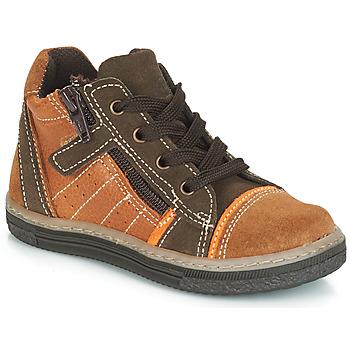 Cipők Fiú Magas szárú edzőcipők Citrouille et Compagnie JESSICA Teve