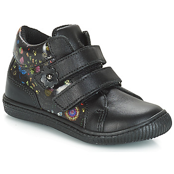 Cipők Lány Rövid szárú edzőcipők Citrouille et Compagnie JUPETTE Fekete  / Virágok
