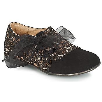 Cipők Lány Oxford cipők Citrouille et Compagnie JETTRA Fekete  / Bronz