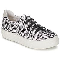 Cipők Lány Rövid szárú edzőcipők Shwik STEP LO CUT Fekete  / Fehér