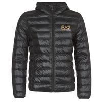 Ruhák Férfi Steppelt kabátok Emporio Armani EA7 TRAIN CORE ID M DOWN LIGHT Fekete  / Arany