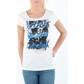 Ruhák Női Rövid ujjú pólók Lee T-shirt Damski SLIM T CLOUD DANCER L41MEVHA biały