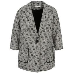 Ruhák Női Kabátok See U Soon CARA Fekete  / Fehér