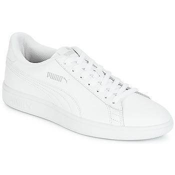 Cipők Férfi Rövid szárú edzőcipők Puma PUMA SMASH V2 L Fehér