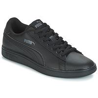 Cipők Férfi Rövid szárú edzőcipők Puma PUMA SMASH V2 L Fekete