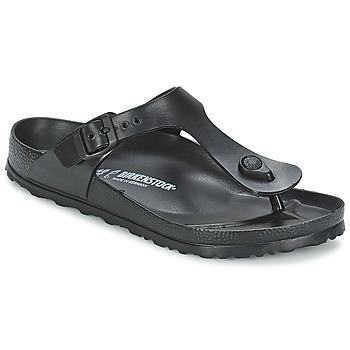 Cipők Női Lábujjközös papucsok Birkenstock GIZEH EVA Fekete