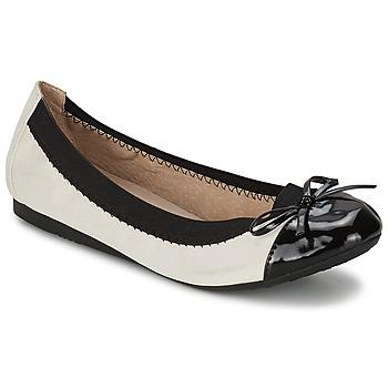 Cipők Női Balerina cipők / babák Moony Mood VADOUMI Fehér / Fekete