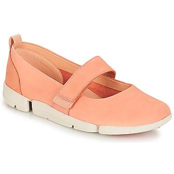 Cipők Női Balerina cipők / babák Clarks Tri Carrie Rózsaszín / Nubuk
