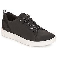 Cipők Női Rövid szárú edzőcipők Clarks Step Verve Lo. / Fekete