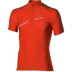 Ruhák Női Rövid ujjú pólók Asics 1/2 ZIP TOP FW12 421016-0540 pomarańczowy