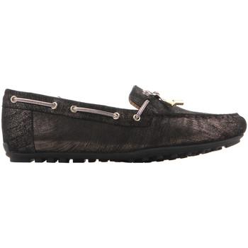 Cipők Női Mokkaszínek Geox D Leelyan A - SHI.Suede D724RA 00077 C9999 czarny