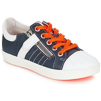 Cipők Fiú Rövid szárú edzőcipők GBB MAXANCE Vte / Sötétkék-fehér / Dpf / 2706