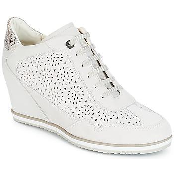 Cipők Női Magas szárú edzőcipők Geox D ILLUSION Fehér