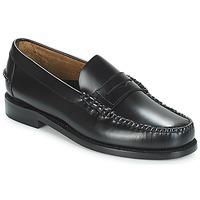 Cipők Férfi Mokkaszínek Sebago CLASSIC PENNY BRUSHED Fekete