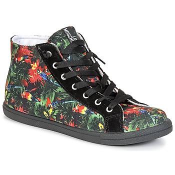 Cipők Női Magas szárú edzőcipők Love Moschino JA15132G0KJE0000 Fekete  / Sokszínű