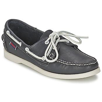 Cipők Női Vitorlás cipők Sebago DOCKSIDES Kék