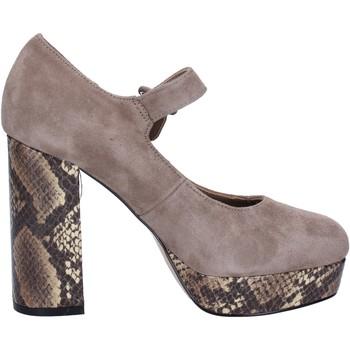 Cipők Női Félcipők Emanuélle Vee Dekoltált cipő BX385 Bézs