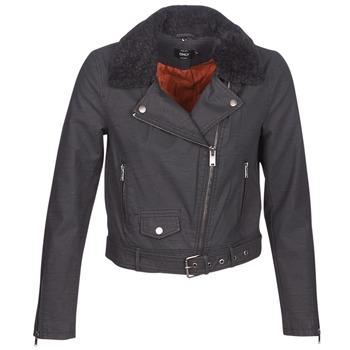 Ruhák Női Bőrkabátok / műbőr kabátok Only ONLCAROL Fekete