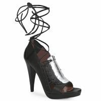 Cipők Női Szandálok / Saruk Sigerson Morrison STRUZZO Fekete  / Ezüst