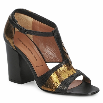 Cipők Női Szandálok / Saruk Sigerson Morrison STRUZZO Fekete  / Bronz
