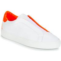 Cipők Női Rövid szárú edzőcipők KLOM KISS Fehér / Narancssárga