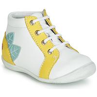 Cipők Lány Magas szárú edzőcipők GBB FRANCKIE Fehér / Citromsárga