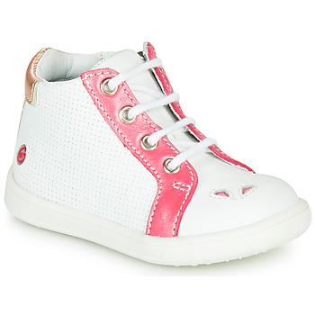 Cipők Lány Magas szárú edzőcipők GBB FAMIA Vte / Fehér-korall / Dpf / Messi