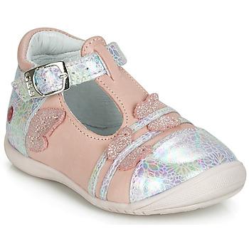 Cipők Lány Balerina cipők / babák GBB MERTONE Rózsaszín / Ezüst